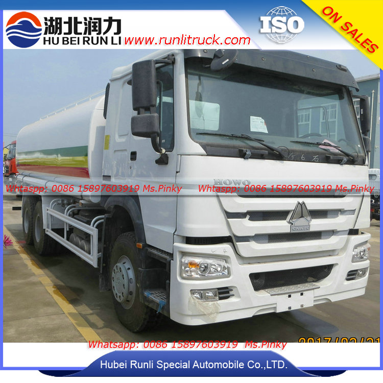 6x4 HOWO Water Bowser Truck 20cbm Water Tank Truck Howo Water Delivery Trucks