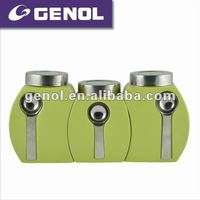 airtight tea coffee canister set with stainless steel spoon