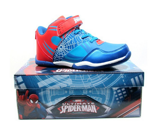 boys basketball shoes kids spiderman blue shoes trainer shoes