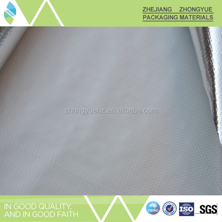 Weight 50-350gsm Scrim Fabric Foil Heat Insulation Building Material