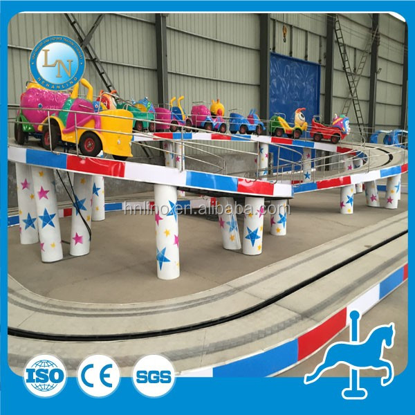 Indoor amusement electric car rides park mini roller coaster kids game