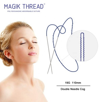 19G 110MM Double Needle Suture Face Lift Cog Pdo Thread