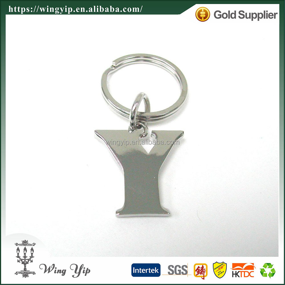 Wholesales custom made with Letter Alphabet Metal Souvenir Key Chain