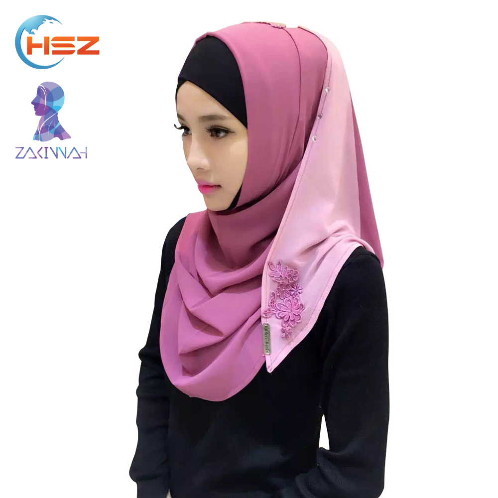 Zakiyyah V011 Fashion Hijab With Stone For Muslim Women Hot Sell In 2017