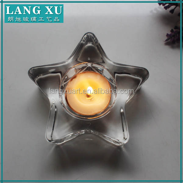 Mini Six points star shape tealight candle holder&glass pillar holder