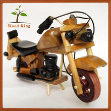 Contracted Contemporary Pure Handicraft Wholesale Art Minds Crafts Wooden Toys Small Toy Mini Motorcycle