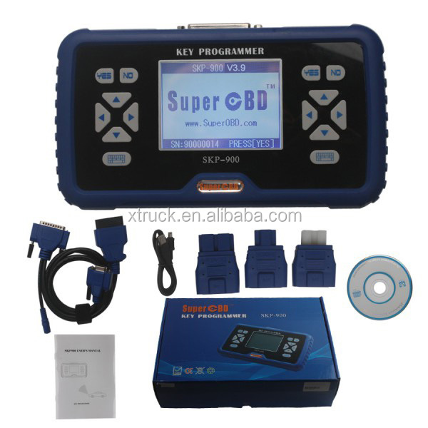 SuperOBD SKP-900 V3.9 Hand-Held OBD2 Auto Key Programmer Free Shipping by DHL