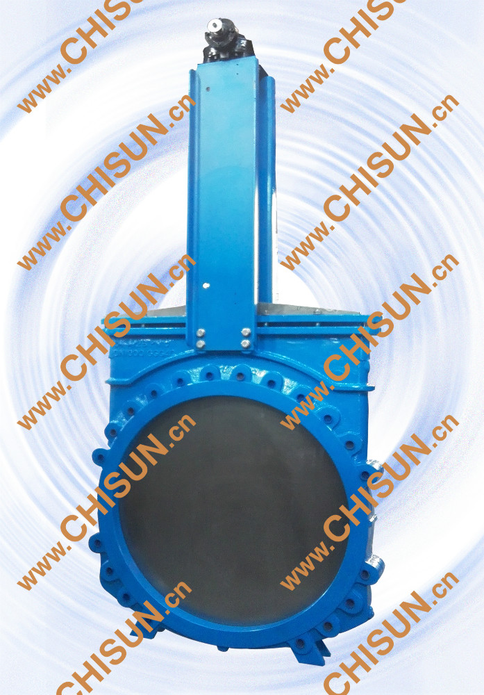 QV Lug Type Wafer GGG40 Bevel Gear Box Operated Wafer Type Knife Gate Valve DN900