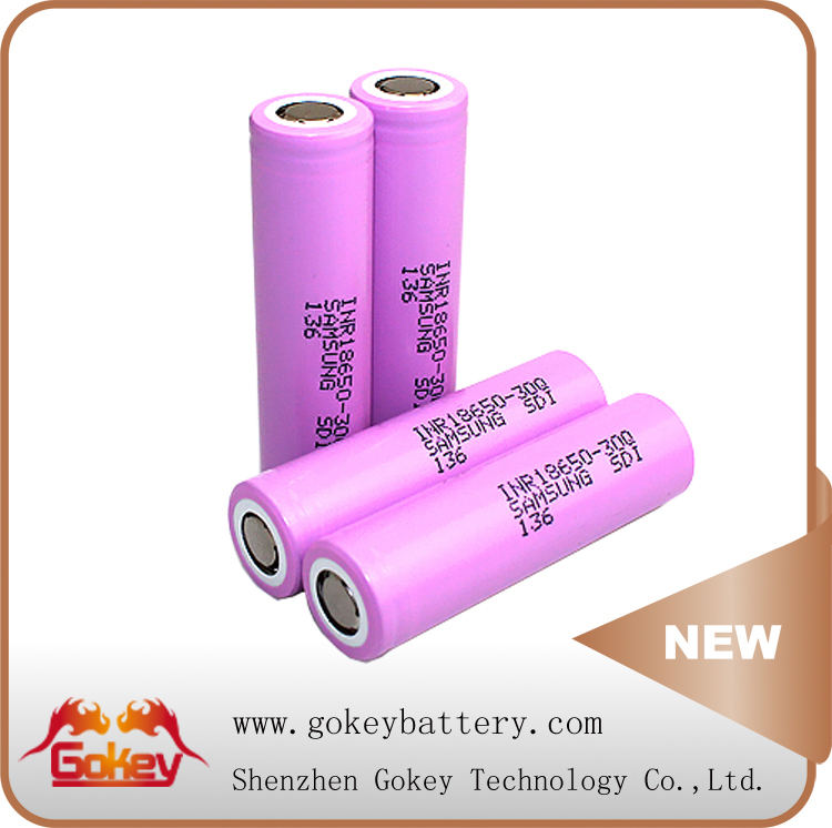 Pink Color 15A Discharge Current Samsung 30Q 3.7V 3000mAh 18650 Ion Battery