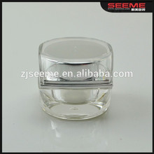 5g clear square skin care jar 10g mini travel acrylic jar cosmetic packing wholesale