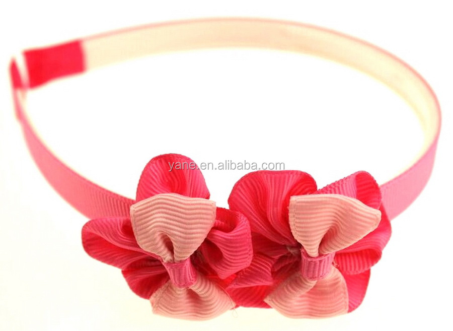 Hand made flower school newborn hair bands wholesale hair accessories