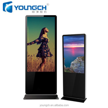 Horizontal lcd tft display steel durable enclosure with lock key anti theft 42 inch digital signage totem
