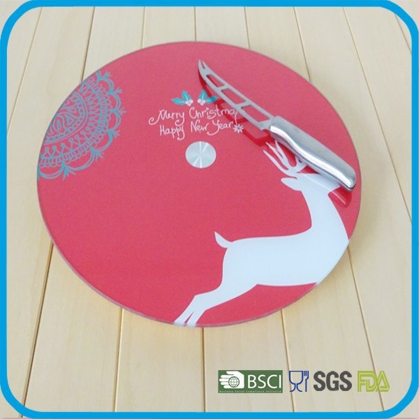 hot sell 4-6mm tempered glass lazy susan