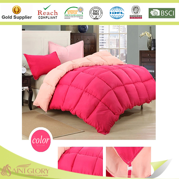 Down Alternative Reversible Comforter Microfiber Peached Polyester Filling Down Alternative Comforter