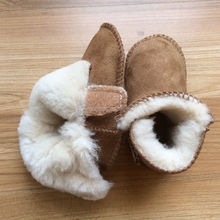 Genuine Sheepskin Slippers Winter Boots Booties For Baby