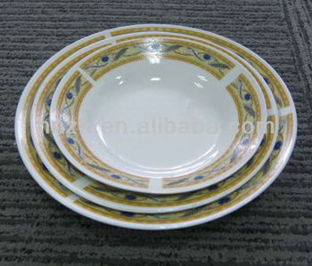 light porcelain soup plate with design