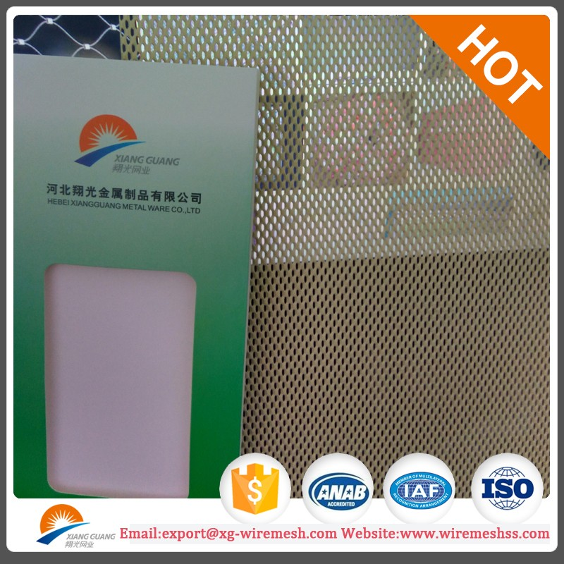 0.5mm and 1.8mm thick DVA One Way vision Mesh,Aluminum Dva mesh