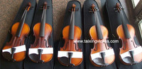 China taixing cheap price handmade solid satin antique primary violin