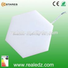 12w hexagonal plastic LED wall and ceiling lamp