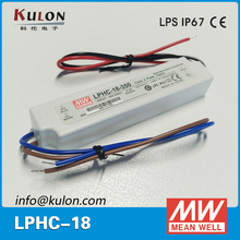 Meanwell LPHC 18W 350mA waterproof Constant Current AC-DC switching led power supply