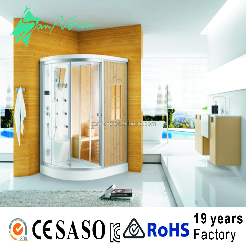 high quality sauna and steam room dry sauna and wet steam shower room