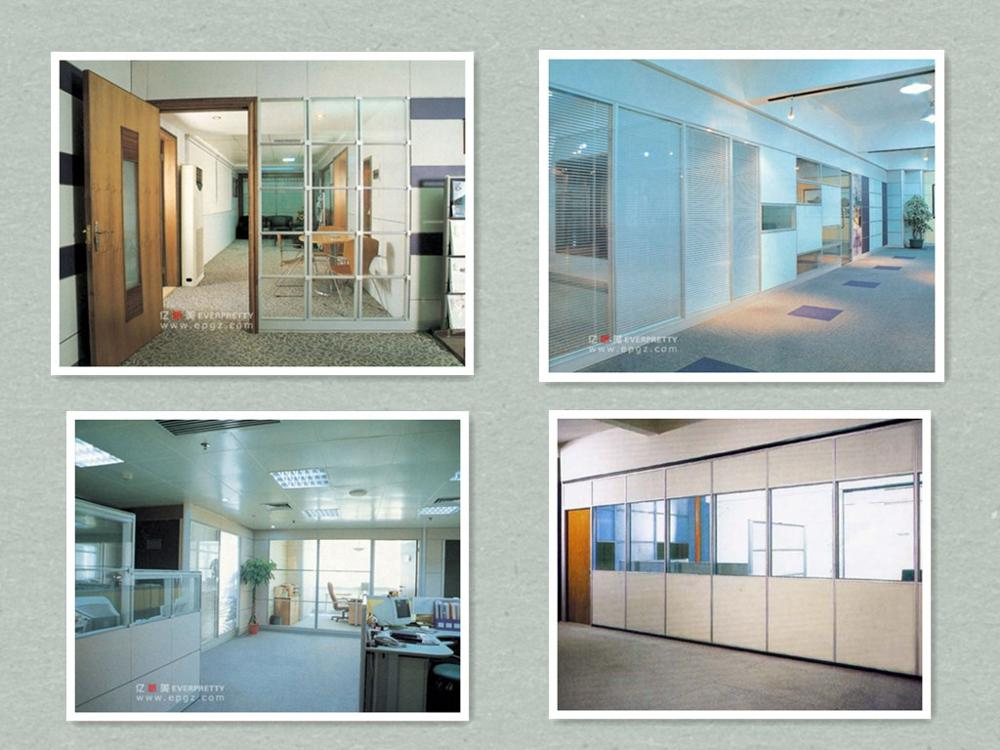 High quality cheap used office full height aluminum glass partition wall glass walls for offices for sale