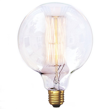 G125 29AK Large Globe Squirrel Cage Filament Vintage Light Bulb 40W 60W 220V Edison Bulbs