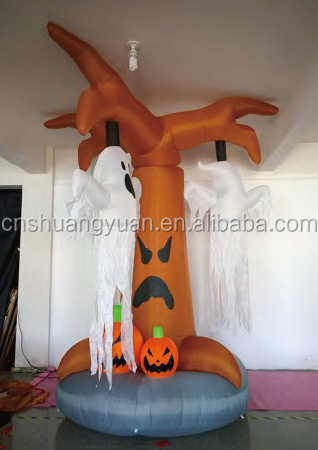 2015 new products inflatable christmas tree with pumpkin , cat
