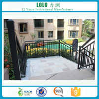 Exterior Tubular Galvanized Steel Pipe Stair Handrails