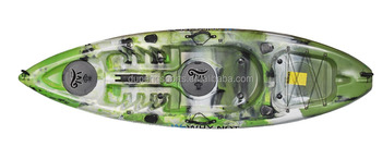 Mixed Green Grey White Color Plastic Angler Kayak for Fishing