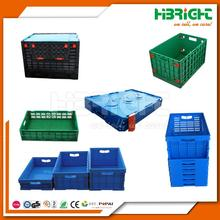 stackable collapsing folding plastic crate with cover