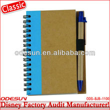 Disney factory audit manufacturer's custom spiral notebook with pen 1411011
