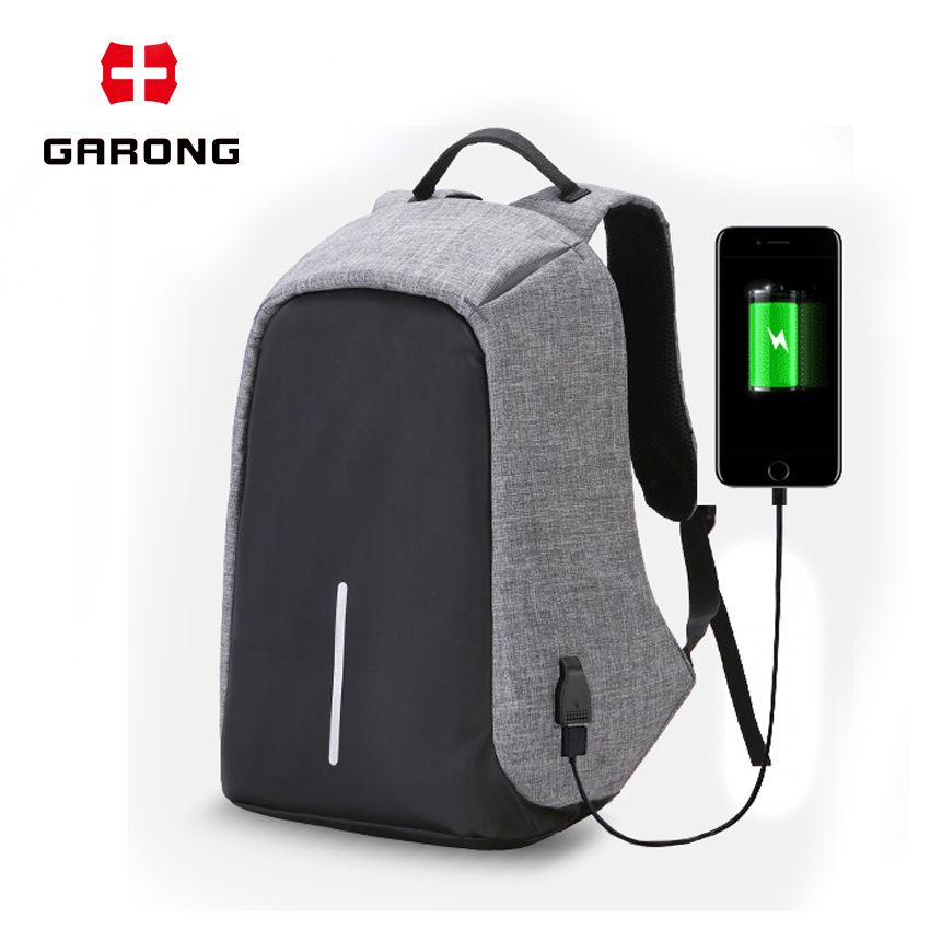 Wholesale fashion Travelling Waterproof accept custom logo USB Battery Charging anti theft backpack