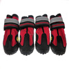 4PCS Dog Boots Waterproof Dog Winter Shoes Paw Protectors with Reflective Straps and Wear-resisting Soles