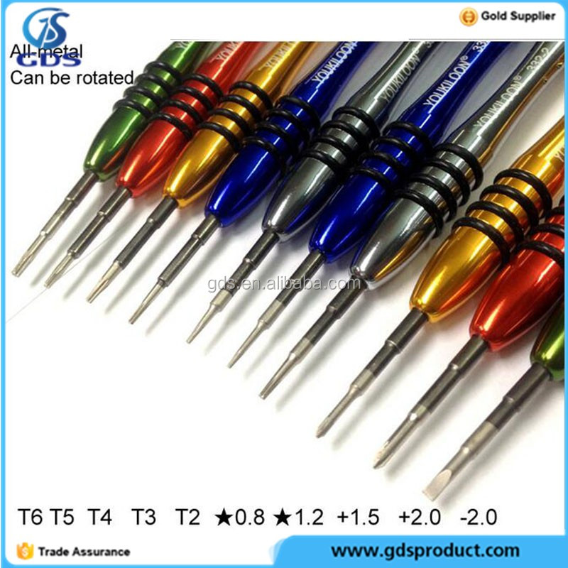 Metal rotated screwdrivers 4S 5G 5S T2 T3 T4 T5 T6 T7 Star 0.8 Star 1.2 +2.0