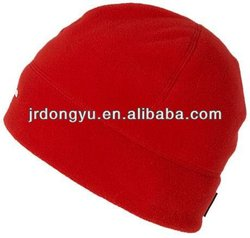 blank womens red pattern fleece ski hat