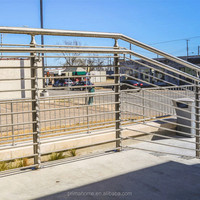 Stainless Steel Railings Concrete Stairs