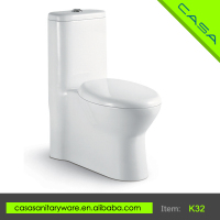 European style excess eddy strap one piece outdoor public toilet