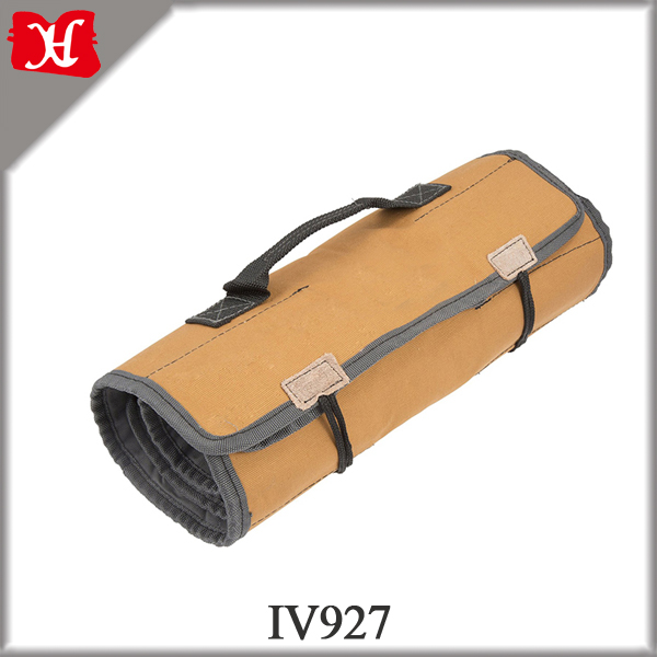 Canvas Rolling Tool Bag for Electrician, Chef Knife Set Bag, Motorbike Repair Tool Bag