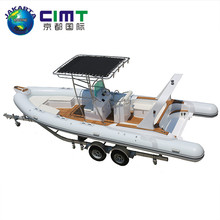 Chinese supplier new design water taxi boat fiberglass RIB Boat for sale