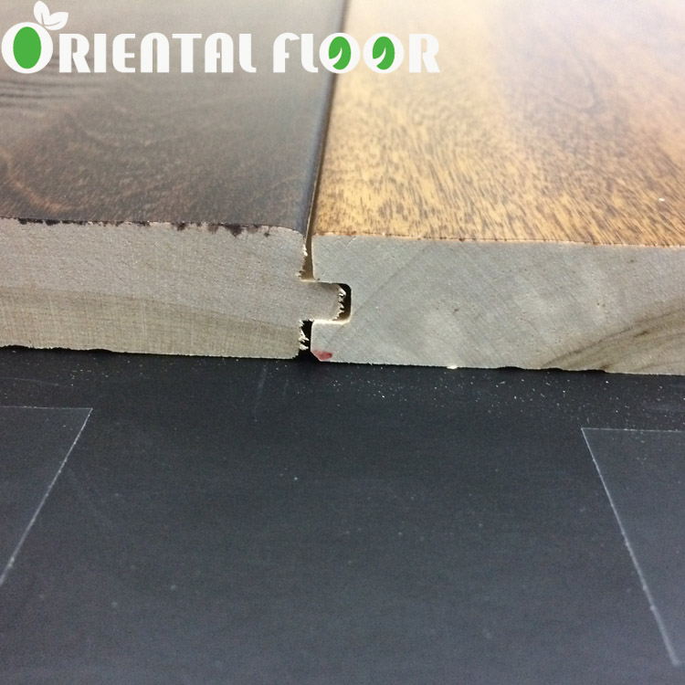China supplier Handscrap and multiple color solid birch wood flooring