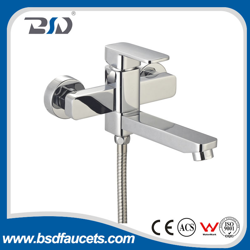 Wall Mounted Single Handle Solid Brass In Wall Tub Shower Faucet Mixer