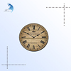 Classical digital retro clock wooden multicolor printing wall clock
