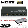 full HD 3d 1080p 4 port hdmi switch switcher protech with audio amplifier