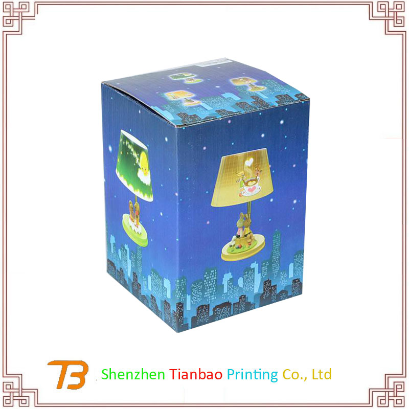 Customized color box design table lamp packaging box