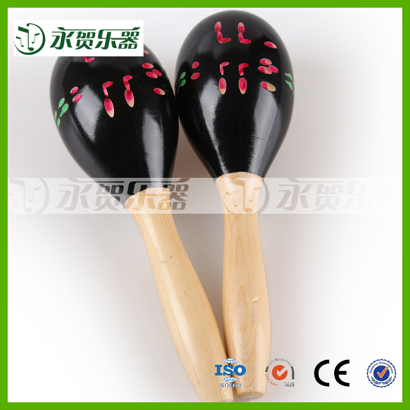interesting wood maracas baby noise making toys