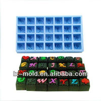 square alphabet chocolate moulds letters silicon bakeware