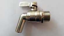 "Stainless Steel Replacement Spigot for Beverage Dispenser-3/4""BSP"