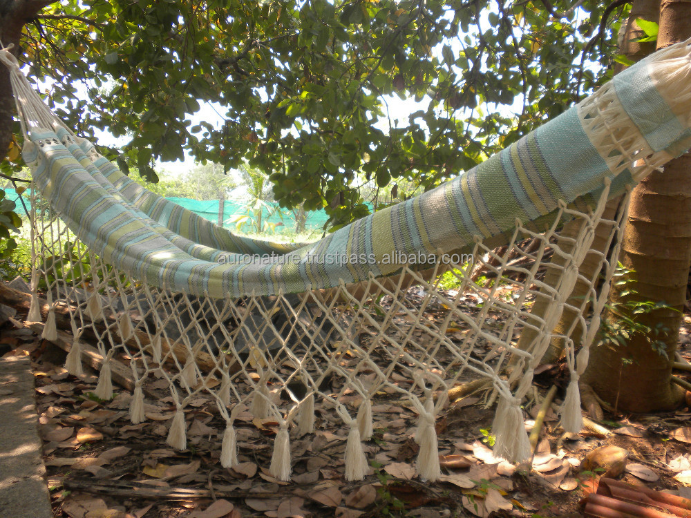 Design Hammocks Sleeping Beige and Green
