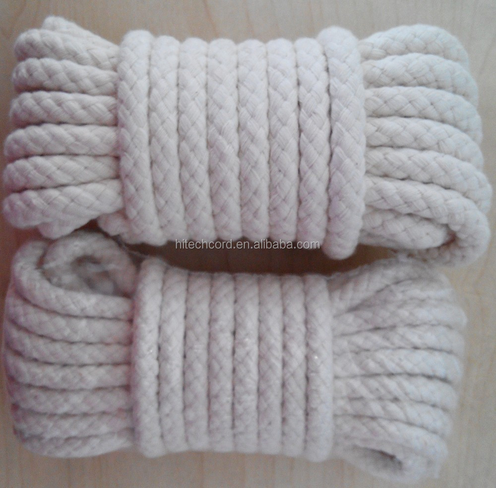 8mm soft cotton braided rope for sale